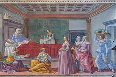 santa maria novella florence 122 (Walwyn) Tags: italy florence fresco renaissance wallpainting johnthebaptist ghirlandaio