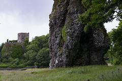 Vue sur le château de Dunollie