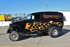 Mooneyes X-Mas Party 2015 (USautos98) Tags: flames hotrod custom willys streetrod 1933 gasser panelvan