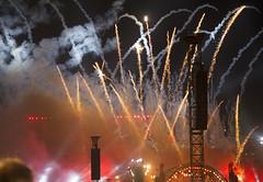 Fireworks at the Gloriette (Princess Ruto) Tags: schnbrunn vienna wien red lights austria fireworks smoke gloriette midsummerfestival