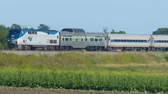 20160716Amtrak 339 and PV (CNW 11177) Tags: usa cm amtrak wi pv somers stampedepass northernpacific 339 domecar privatevarnish hiawathaservice