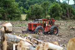 Old Times. (HivizPhotography) Tags: timber jack 225d skidder classic france logging forest forestry gironde old machine timberjack orange red green