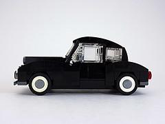 Early '40s Car (cmaddison) Tags: black car sedan toy town lego 1940s vehicle