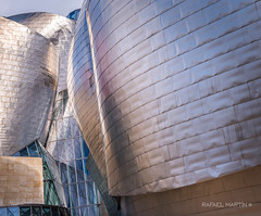 Guggenheim Bilbao (Rafael Martn Fotografa. UltraFoto) Tags: arquitectura arte edificio bilbao reflejo guggenheim museo frankogehry