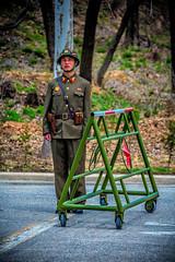 North Korean DMZ Soldier (Baron Reznik) Tags: portrait fashion vertical soldier uniform military misc korea kp northkorea chosun  dprk colorimage songdo kaesong  democraticpeoplesrepublicofkorea   koreanpeoplesarmy   chosnminjujuiinminkonghwaguk northhwanghaeprovince canon28300mmf3556lisusm   kaesng northhwanghae   hwanghaipukto