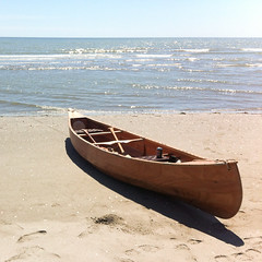 wood canoe in delta del Po (=Gibo=) Tags: wood sea river delta canadian canoe po canoa
