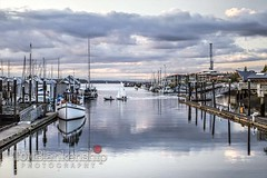 Outa wind (Tom Blankenship Photography) Tags: sunset marina canon photography evening washington photographer state crane may photographers professional 7d olympia wa sandman inlet sailboats masts towing towed 2015 percivallanding buddbay tomblankenship