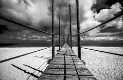 The Jetty (Explored 18-5-2016) (mcalma68) Tags: sunset seascape netherlands monochrome clouds mono blackwhite jetty serene texel