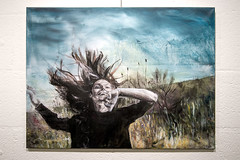 Eline van Hove in de Vrijhof (4/4) (Paul Clason) Tags: kunst enschede wak vrijhof paulclason weekvandeamateurkunst mei2016 160519vdvrijhofelinevanhovewerkh1744bb elinevanhove herowntouch