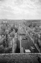 Pripyat - 16 Storey View (St Prie) Tags: 35mmfilm ilfordhp5plus400 vivitarultrawideandslim vuws