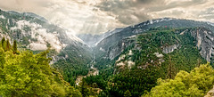 Morning Has Broken (TheExplorographer.com) Tags: california travel panorama usa fog fire photography cloudy smoke sony explore valley yosemite forestfire anseladams tunnelview a7rii