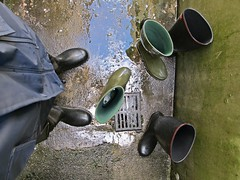 Cleaning my wellies (northseaboy) Tags: green water rain river wasser g rubber wellington winner wellingtonboots grn welly wellies wald regen waders rubberboots rainwear gummistiefel wellingtons regenjacke gummihandschuhe rainpants regenhose regnty gayrubber watstiefel gummistvlar regenzeug wathose regensachen