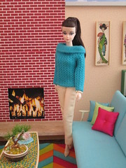 Photogenic (Wandy in Pensacola) Tags: sweater doll barbie midcentury vintagefashion silkstone bfmc silkstonebarbie blushbeauty photofashion barbiediorama sportingcasuals