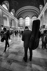 Grand Central (nyperson) Tags: trainstation grandcentralterminal blackandwhite newyorkcity man
