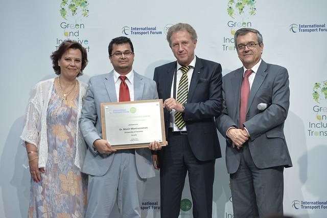 Dr. Monir Moniruzzaman receives 2016 ITF Young Researcher Award