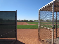 Open Gate on Empty Field at Surprise Stadium -- Surprise, AZ, March 09, 2016 (baseballoogie) Tags: arizona canon baseball stadium az powershot surprise ballpark springtraining royals kansascityroyals cactusleague baseballpark surprisestadium 030916 sx30is canonpowershotssx30is baseball16