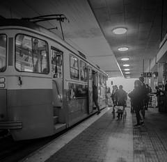 Tramspotting (Henka69) Tags: street bw monochrome backlight gteborg candid gothenburg tram streetphoto streetcar