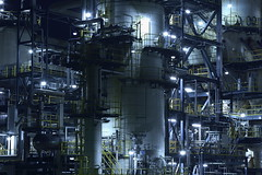 Taiyo Oil Kimuma Plant, Ehime JAPAN (Hiro_A) Tags: plant night nikon factory sigma oil taiyo 1770 refinery petrochemical kikuma 1770mm d7200