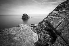 160507 012w1 (Marteric) Tags: ocean sea bw cliff white seascape black seaweed nature water rock stone landscape coast blw long horizon nd shutter varberg halland nd1000 rdskr