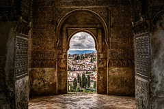 Mirador del Patio de la Acequia  [Explore 19-05-2016 !] (andbog) Tags: espaa building window wall architecture clouds spain nuvole arch view cloudy interior sony overcast indoor palace lookout andalucia inner explore finestra espana alhambra granada mf vault 24mm manual es alpha sonya overlook palazzo mori manualfocus f28 architettura hdr spagna generalife csc palacio arabesque archi mudjar moros patiodelaacequia nuvoloso canonfd ilce photomatix vintagelens primelens volte explored sonyalpha inexplore patiooftheirrigationditch mirrorless moorishspain manualfocusing a6000 sony classiclenses emount canonfd24mmf28ssc sonyalpha6000 ilce6000 sonya6000 sonyilce6000 canonclassics sony6000 6000 over100fav