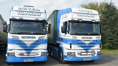YN64 UFP & YJ06 EKF (panmanstan) Tags: truck wagon yorkshire transport lorry commercial vehicle freight scania hayton haulage r580