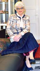 Ingrid022028 (ingrid_bach61) Tags: skirt mature button blazer pleated faltenrock bowblouse schleifenbluse durchgeknpft