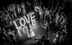 First Dance (davidjhumphries) Tags: kilkenny ireland wedding music white black love canon fun happy groom bride dance stage crowd dancefloor ultrawide moves 0516 2016 17400mm 130516 5dii