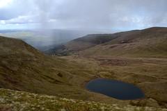 Passing Rain (JDWCurtis) Tags: mountain lake mountains rain weather southwales wales nationalpark breconbeacons mountainside brecon powys glaciallake bodyofwater breconbeaconsnationalpark llyncwmllwch breconshire
