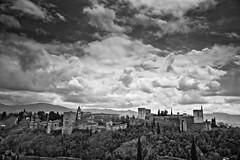 #Granada #Spain Love that view #Alhambra #Leica #LeicaCamera (albericjouzeau) Tags: leica blackandwhite mountain nature clouds montagne landscape spain view andalucia espana ciel alhambra granada nuages sierranevada paysage grenade espagne vue andalousie leicacamera