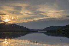 Midnightsun above Autsi lake (johansenfoto) Tags: lake norway night norge arctic northern nord midnightsun finnmark midnattsol