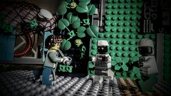 "LEGO ""The Cut-Lass"" (wesleyobryan) Tags: film lego theatre action cut zombie lass weapon actress crutch cutlass apocalego"