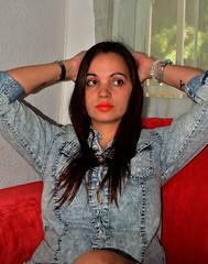 Autorretrato (estefiavilam) Tags: woman me girl face look myself happy mujer chica yo rostro
