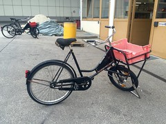 The Erdinger brewery has a substantial fleet of butcher bikes for transport within the extensive brewery (fiftybybike) Tags: workbike