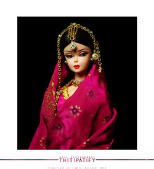 Fuchsia Saree (thitipatify) Tags: india vintage studio model glamour holidays doll dress barbie best hollywood glam gown saree diorama silkstone robertbest