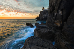 Neist Point (cylynex) Tags: scotland uk isleofskye skye neistpoint lighthouse neistpointlighthouse coast slowshutter longexposure sunset colors vivid colours cliff scenery landscape europe ocean nikon d800 travel travels santocommarato