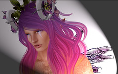 Pink (niki wirefly) Tags: fae fairy fairey male colour secondlife fantasy logo sl niki wings