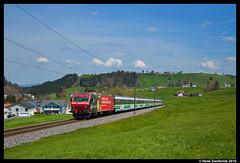 SOB 456 092, Biberbrugg 30-04-2016 (Henk Zwoferink) Tags: express bahn 092 ost sob sud henk schwyz 456 zwitserland rothenthurm voralpen bennau biberbrugg re456 zwoferink