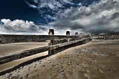 Scarred by Wind & Wave (andy p m) Tags: borth britishseaside ceredigion hdr wales beach coast coastal groyne outdoors pebbles sand seaside shoreline