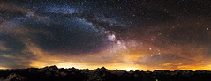 Milky Way (Wide Panorama) (Jamani Caillet) Tags: milkyway mountains montagne panorama tokina 1116 astrophotography stars toiles toile voie lacte galaxy galaxie paysage landscape nightscape starscape starry night starrynight switzerland suisse swissalps schweiz swiss dent blanche panoramic wide angle wallis valais etoiles canon 70d romandie romande randonne hiking alps hrens val dhrens nightsky montagnes mountain