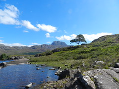 Slioch (3,215ft), Loch Maree, Highlands of Scotland, August 2016 (allanmaciver) Tags: slioch highlands scotland mountain majestic low view rocks stones loch maree clouds warm weather sunny august allanmaciver