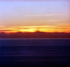 Fire Ocean (spiritusmentis) Tags: hasselblad 203fe carlzeiss 250mm f4 teletessar lee bigstopper 10 stop nd filter 6x6 kodak portra160 oregon coast ocean sunset