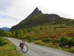 Biking in the autumn mountains. (Mrs.Snowman) Tags: straumsdalen sykkylven norway straumshornet autumn biking september