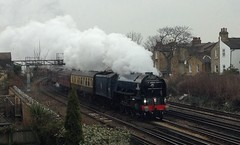 "A1 60163 ""Tornado"" (_J @BRX) Tags: london a1 tornado britishrail steamtrain iphone peppercorn lner cathedralsexpress a1locomotivetrust 1z78 march2013 brexpressblue shepherdslanejunction newburycanterbury"