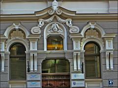 Fragment of building on Baznicas Street in Riga, Latvia. May 9, 2015 (Vadiroma) Tags: city europe capital baltic latvia riga reliefs rga latvija 2015 baznicasstreet