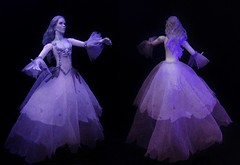 The Woman in White (MaxxieJames) Tags: white house lady dark toy bride doll shadows action spirit ooak ghost gothic haunted spooky ethereal figure haunting ghosts mansion custom phantom manor ghostly maiden