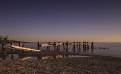 Sunrise Reflection (hey its k) Tags: longexposure reflection beach sunrise landscape lakeontario groynes hfg fiftypointconservationarea canon6d img8451hdre