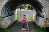 SAKURAKO - JD Razor. (MIKI Yoshihito. (#mikiyoshihito)) Tags: kick daughter scooter jd sakurako razor kickboard 娘 kickscooter ms105 さくらこ 櫻子 サクラコ 6歳7ヶ月 jdrazor