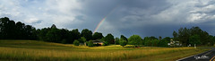 Our pot of gold (John White Photography) Tags: storm field weather clouds rainbow northcarolina potofgold endoftherainbow