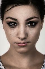 (Uros Krunic) Tags: light portrait people woman color colour colors girl beautiful beauty face female contrast dark hair 50mm eyes nikon pretty lips brunette nikkor 50mm18 d5100 50mm18g uroskrunic
