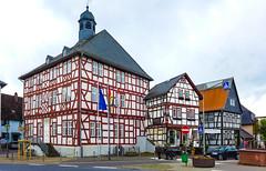 Usingen, Rathaus (JohannFFM) Tags: germany cafe frankfurt main rathaus taunus fachwerk usingen